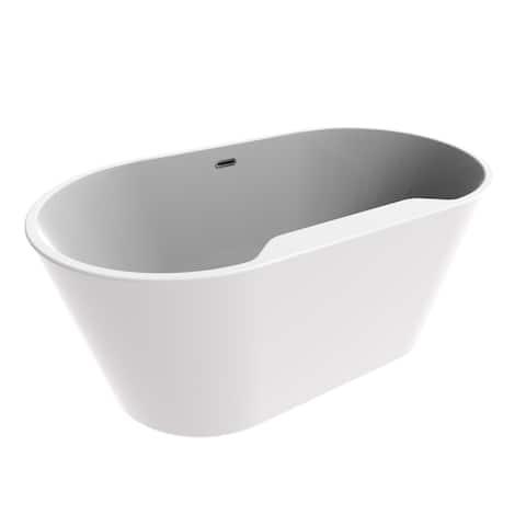 """A&E Bath and Shower Retro 56"""" Freestanding Tub No faucet"""