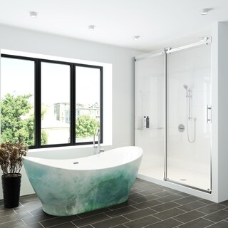 "A&E Bath and Shower Tundra 66"" Freestanding Tub No faucet with hand painted finish"