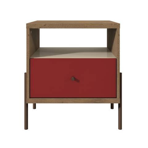 Joy 1-Full Extension Drawer Nightstand in Red