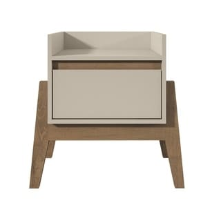 Essence 1-Full Extension Drawer Nightstand in Off White