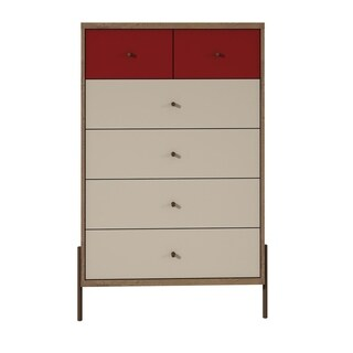 Joy 48.43 Inch Tall Dresser with 6 Full Extension Drawers