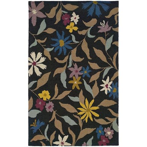 Evangeline Nirvana Floral Handmade Wool Area Rug