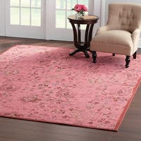 Style Haven Artistic Overdyed Pink Area Rug - 5' 3 x 7'