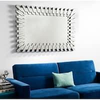 Safavieh Kia Modern Border 47 x 31-inch Silver Mirror - 47.2' x 1.5' x 31.5'