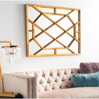 "Safavieh Abey Sculptural Gold 48-inch Rectangle Decorative Mirror - 36"" x 1.5"" x 48"""