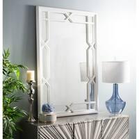 Safavieh Elena Framed 40 x 60-inch White Mirror - 40' x 2' x 60'