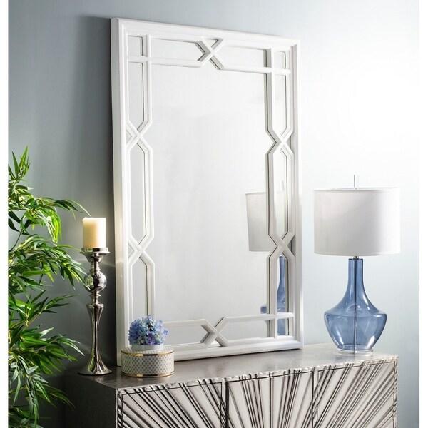 Shop Safavieh Elena Framed 40 x 60-inch White Mirror - 40\' x 2\' x 60 ...