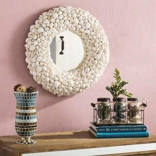 Safavieh Merrigan Coastal 20-inch Round White Seashell Mirror - 20' x 3.5' x 20'