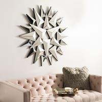 Safavieh Lakin Industrial 47-inch Silver Sunburst Mirror - 46.9' x 1.8' x 46.9'