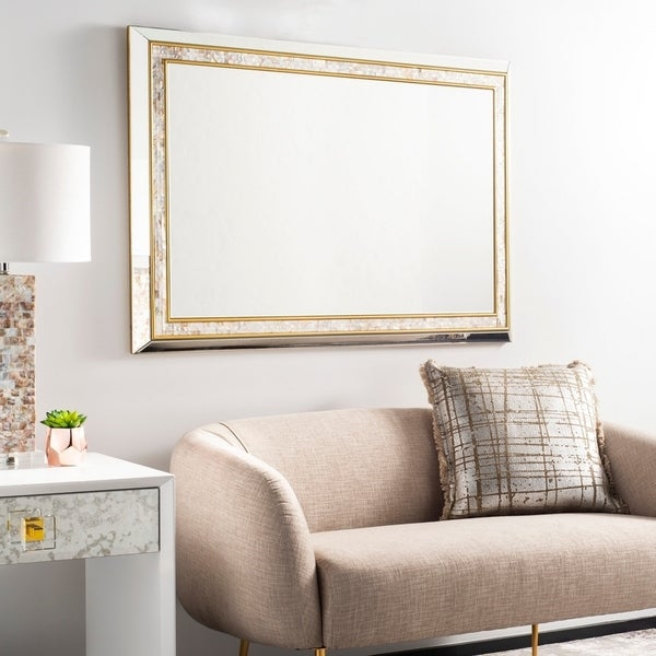 """Safavieh Sully Mother of Pearl 47 x 32-inch Rectangle Decorative Mirror - 47.2"""" x 2"""" x 31.5"""""""