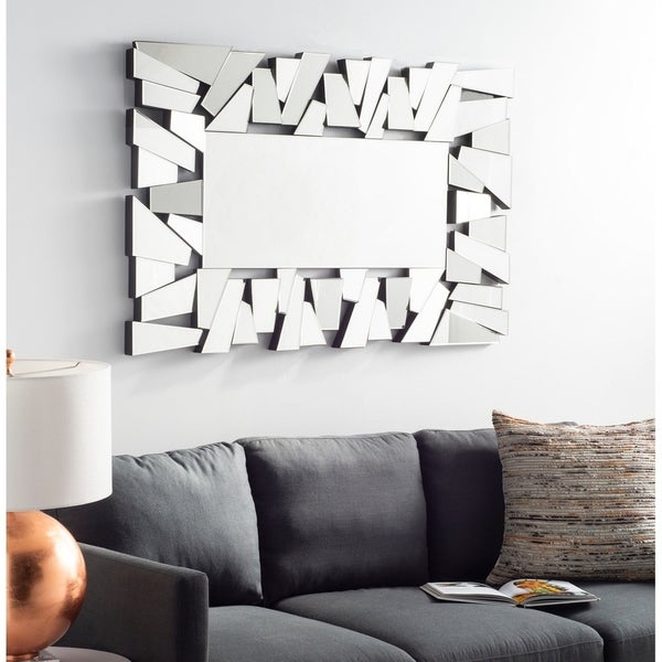 "Safavieh Farina Abstract 47 x 30-inch Rectangle Decorative Mirror - 47.2"" x 1.8"" x 30"""