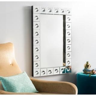 "Safavieh Paloma Orbs Silver 35 x 24-inch Rectangle Decorative Mirror - 35.4"" x 2.6"" x 23.6"""