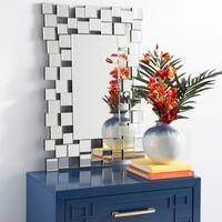 Safavieh Aldon Geometric Squares 35 x 24-inch Silver Mirror - 35.4' x 0.8' x 24'