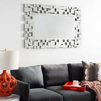 Safavieh Callan Geometric Squares 47 x 31-inch Silver Mirror - 47.2' x 0.8' x 31.5'
