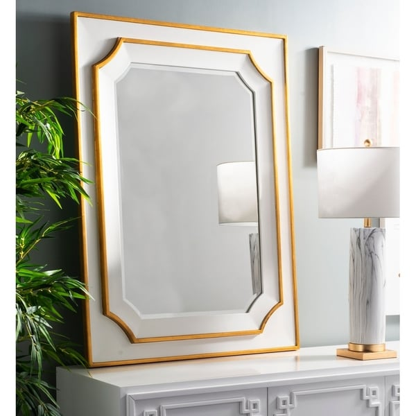 Safavieh Cora Framed 36 X 48 Inch Gold Mirror X27