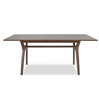 Charlie Mid-Century Modern Dining Table - Brown
