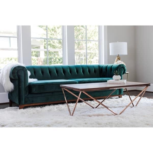 Cool Shop Kara Green Velvet Tufted Chesterfield Mid Century Machost Co Dining Chair Design Ideas Machostcouk