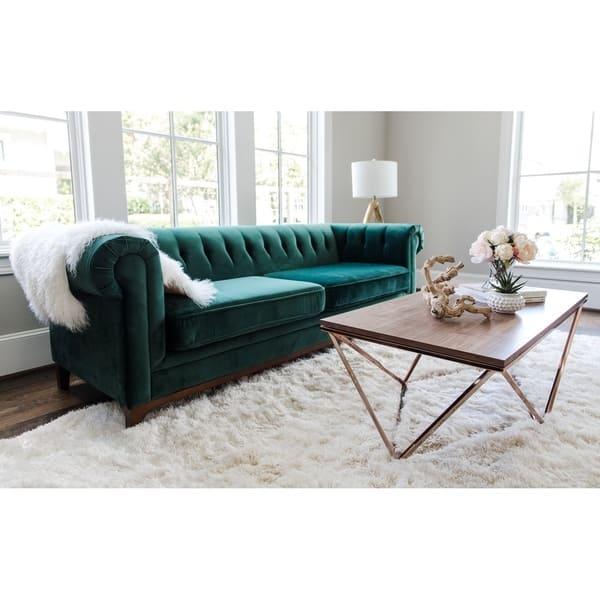 Terrific Shop Kara Green Velvet Tufted Chesterfield Mid Century Ibusinesslaw Wood Chair Design Ideas Ibusinesslaworg