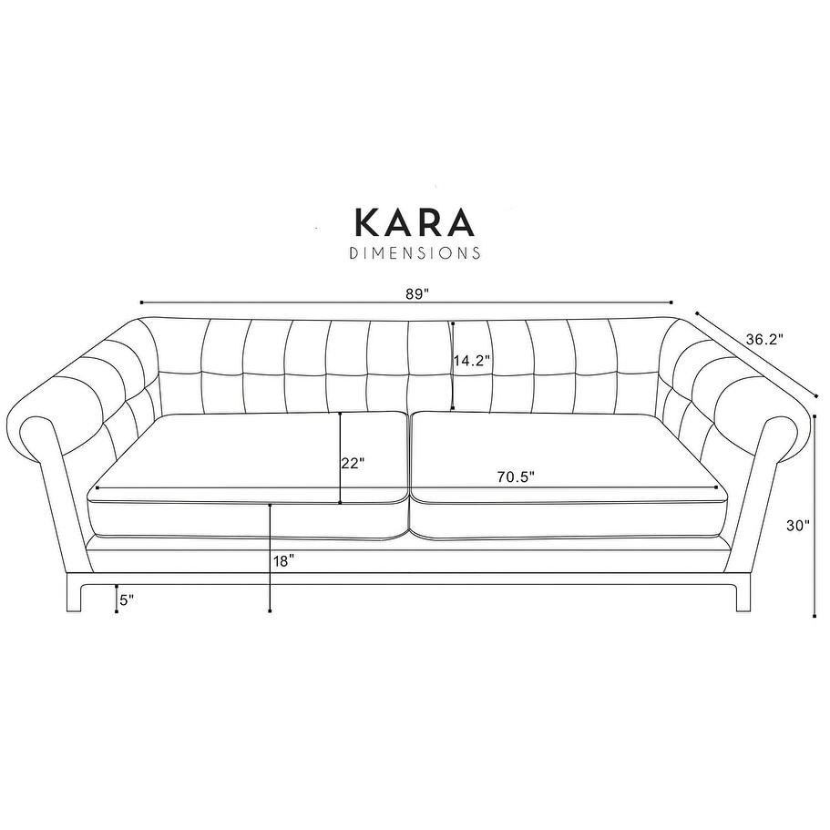 Excellent Kara Green Velvet Tufted Chesterfield Mid Century Modern Sofa Ibusinesslaw Wood Chair Design Ideas Ibusinesslaworg