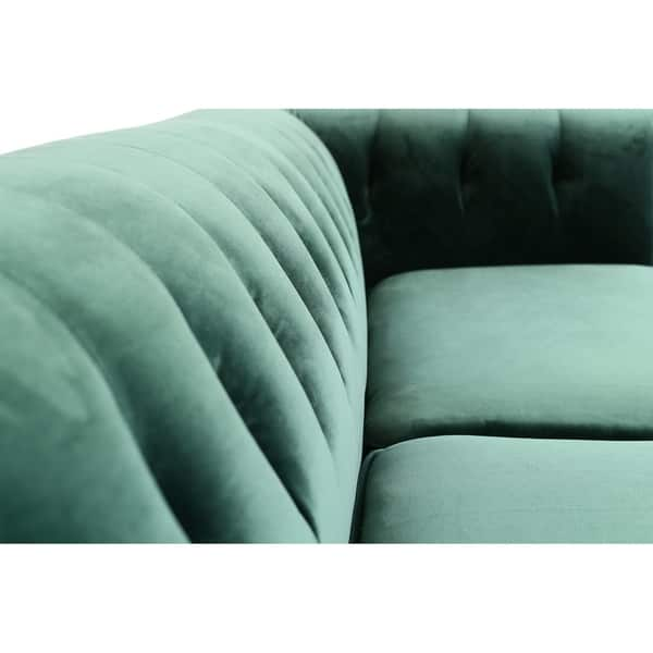 Brilliant Shop Kara Green Velvet Tufted Chesterfield Mid Century Ibusinesslaw Wood Chair Design Ideas Ibusinesslaworg