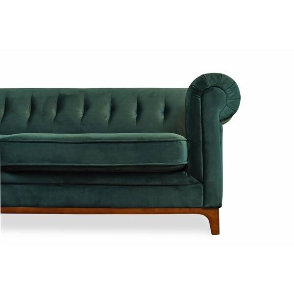 Marvelous Shop Kara Green Velvet Tufted Chesterfield Mid Century Ibusinesslaw Wood Chair Design Ideas Ibusinesslaworg