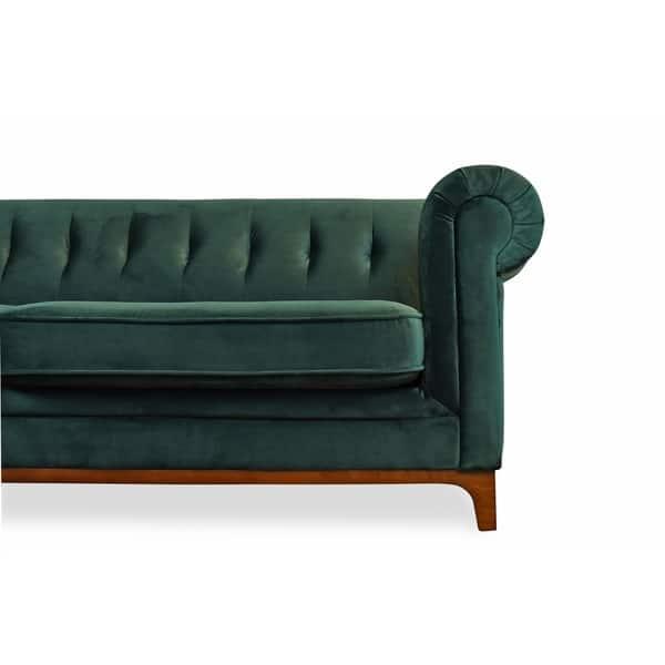Pleasing Shop Kara Green Velvet Tufted Chesterfield Mid Century Machost Co Dining Chair Design Ideas Machostcouk