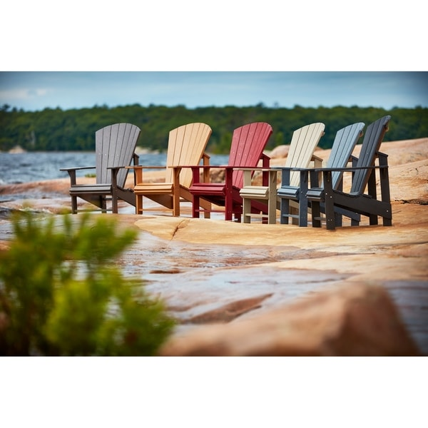 Charmant C.R. Plastic Products Generations Upright Adirondack Chair