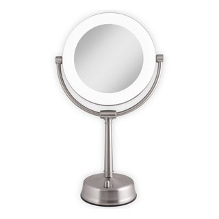 Shop Ovente 7 5 Inch Dimmable Led Lighted Wallmount Vanity