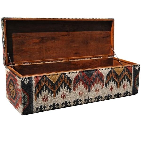Enjoyable Shop Handmade Herat Oriental Indo Tribal Kilim Upholstered Andrewgaddart Wooden Chair Designs For Living Room Andrewgaddartcom