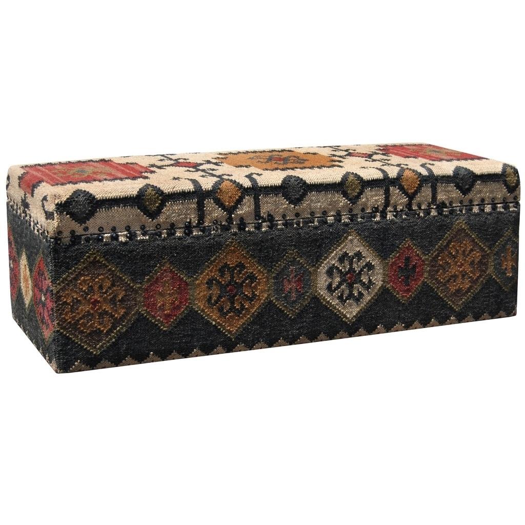Astounding Handmade Herat Oriental Indo Tribal Kilim Upholstered Storage Ottoman Andrewgaddart Wooden Chair Designs For Living Room Andrewgaddartcom