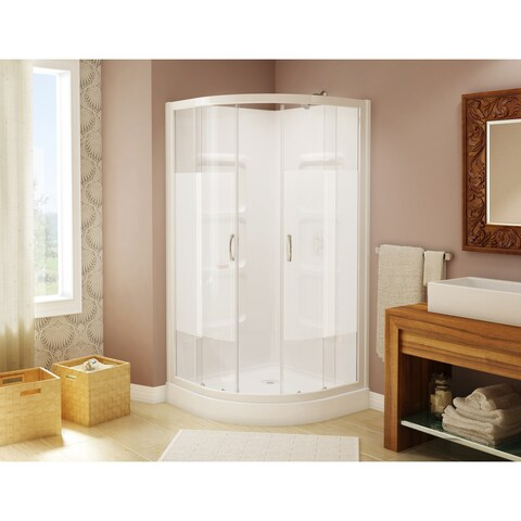 Mona Neo Round Shower Kit Door with Acrylic Tray and Walls