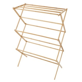 Bamboo Clothes Drying Rack- Collapsible and Compact Lavish Home