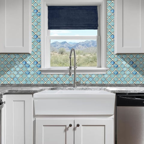 Highpoint Collection Fireclay 35.5-inch Reversible Double Bowl Fireclay Farmhouse Sink