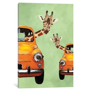 "iCanvas ""Giraffes In Yellow Cars"" by Coco de Paris Canvas Print"