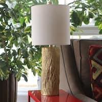 Olea Gold Leaf Stump Table Lamp