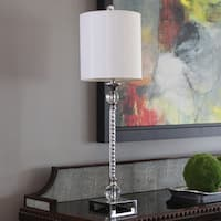 Camilla Acrylic Twist Chrome Buffet Lamp