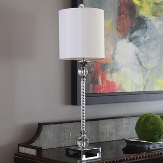 Camilla Acrylic Twist Chrome Buffet Lamp