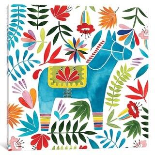 "iCanvas ""Festive Otomi I"" by Grace Popp Canvas Print"