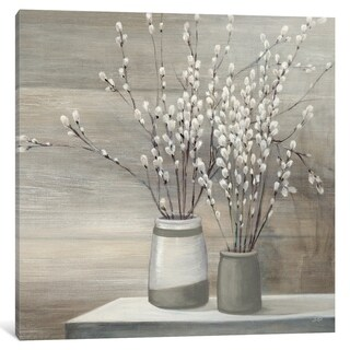 "iCanvas ""Willow Still Life Gray Pots"" by Julia Purinton Canvas Print"