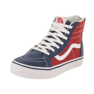 Vans Kids Sk8-Hi Zip (Tri Pop) Skate Shoe