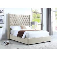 Best Master Furniture High Profiled Upholstered Platform Bed