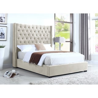 Best Master Furniture High-profiled Upholstered Platform Bed