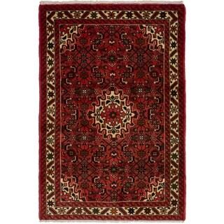 eCarpetGallery  Hand-knotted Hosseinabad Dark Copper Wool Rug - 3'3 x 4'10