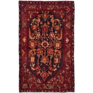 eCarpetGallery  Hand-knotted Nahavand Black, Dark Red Wool Rug - 4'6 x 7'5