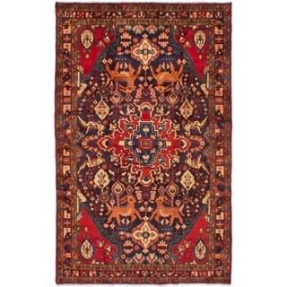 eCarpetGallery  Hand-knotted Nahavand Black, Red Wool Rug - 4'5 x 7'3