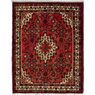 eCarpetGallery  Hand-knotted Hosseinabad Dark Copper Wool Rug - 3'6 x 4'7