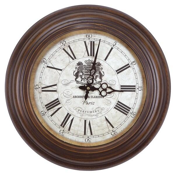 Perfumers Rustic Wall Clock