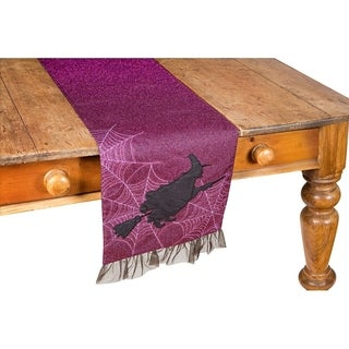 Witching Hour Halloween Table Runner, 13 by 36-Inch, Purple