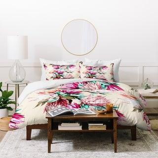 Deny Designs Floral Proteas Bloom Duvet Cover Set (3-Piece Set)