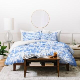Schatzi Brown Maui Palm 2 Light Blue Duvet Cover Set